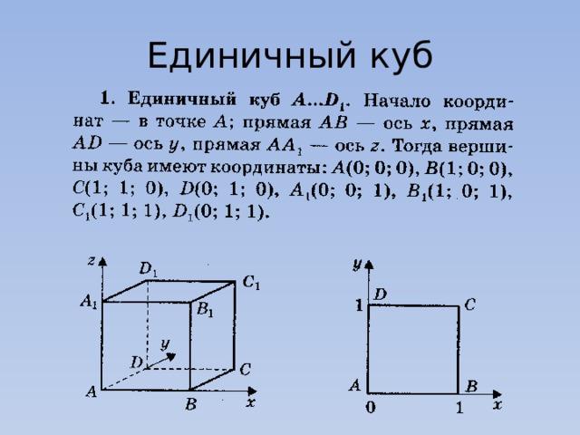 Единичный куб