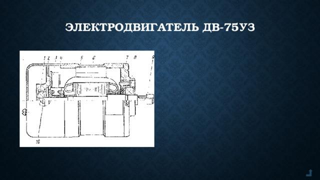 Электродвигатель ДВ-75УЗ