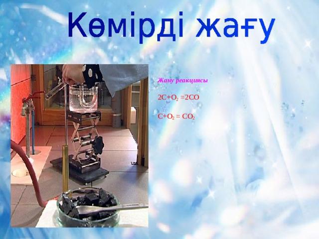 Жану реакциясы   2C+O 2 =2CO   С+О 2 = CO 2