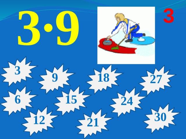 3·9 3 3 9 18 27 15 6 24 30 12 21