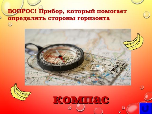 ВОПРОС! Прибор, который помогает определять стороны горизонта компас