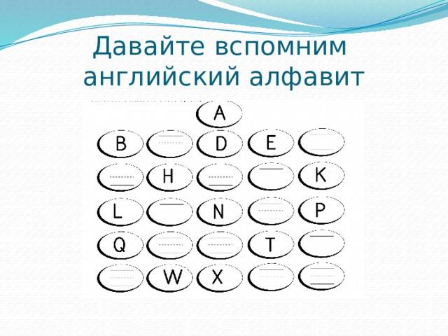 Давайте вспомним  английский алфавит