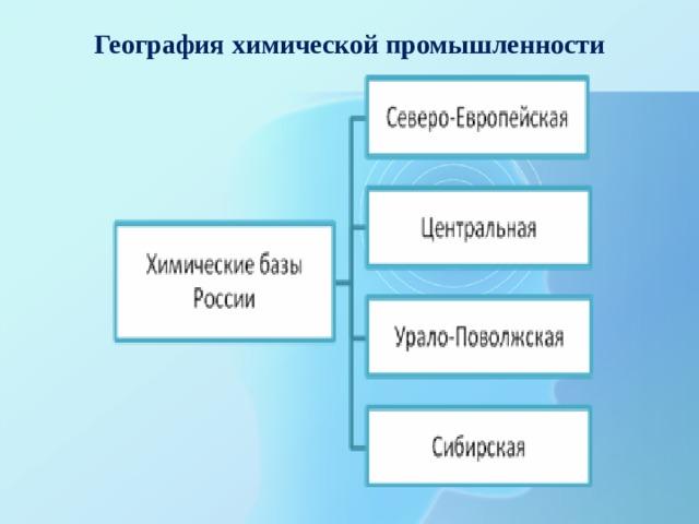 География химической промышленности