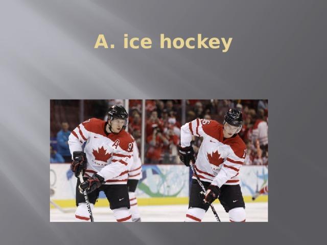 A. ice hockey