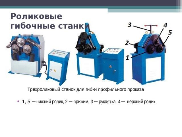 Роликовые гибочные станки Трехроликовый станок для гибки профильного проката