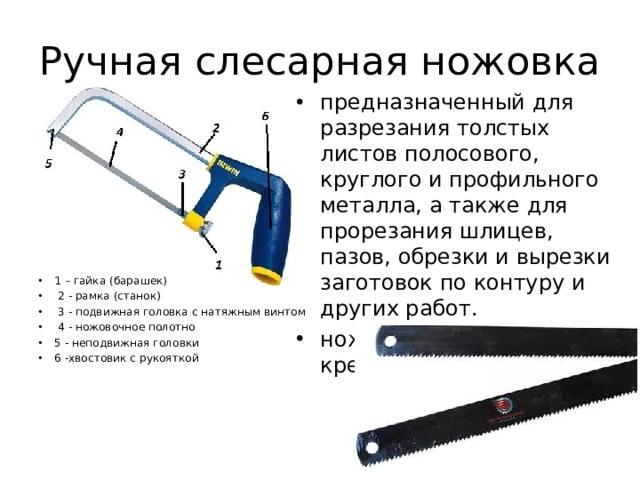 Ручная слесарная ножовка