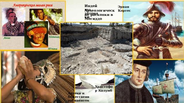 Эрнан Кортес Индейцы тотонаки Археологические раскопки в Мегиддо Христофор Колумб Ацтеки и божественный напиток