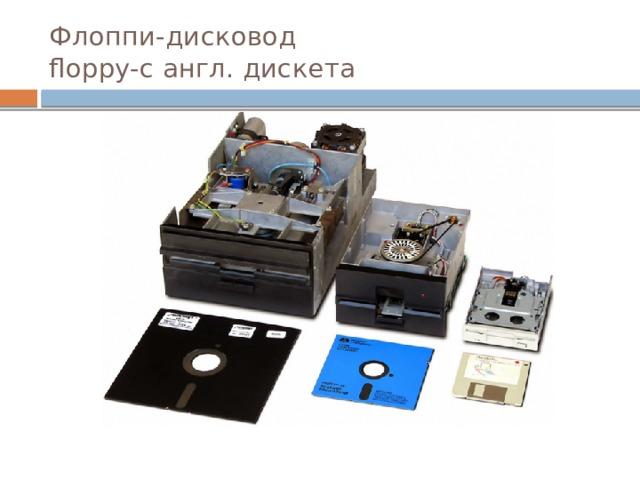 Флоппи-дисковод  floppy-с англ. дискета