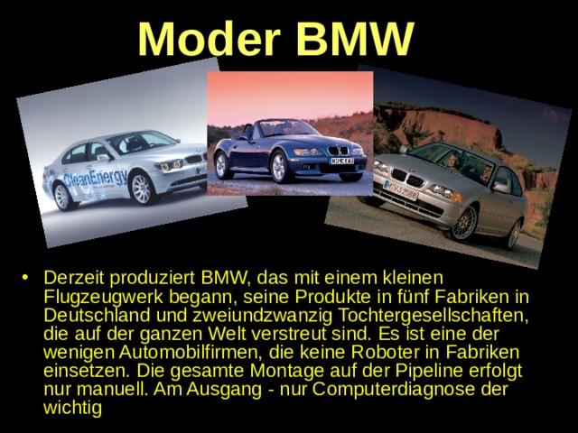 Moder BMW