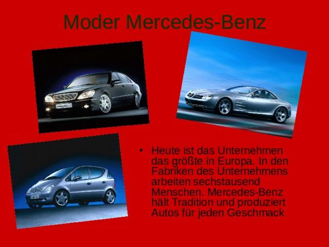 Moder Mercedes-Benz