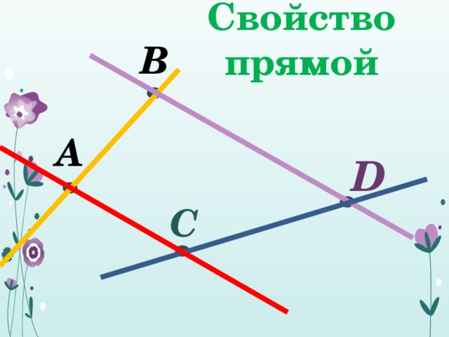Свойство прямой В А D  С