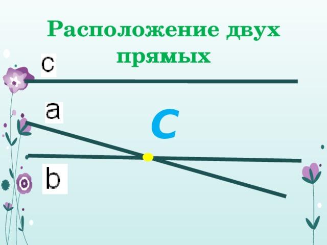 Расположение двух прямых С