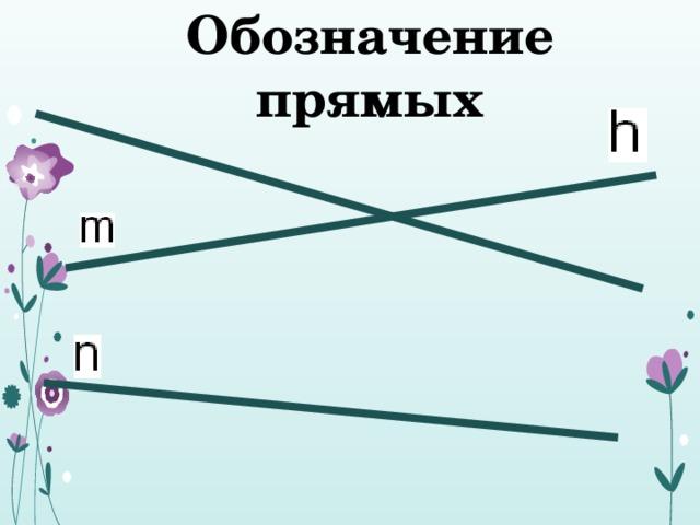 Обозначение прямых