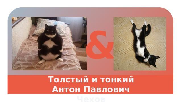& Толстый и тонкий Антон Павлович Чехов