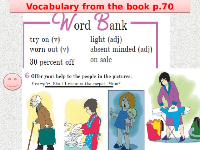 Vocabulary from the book p.70