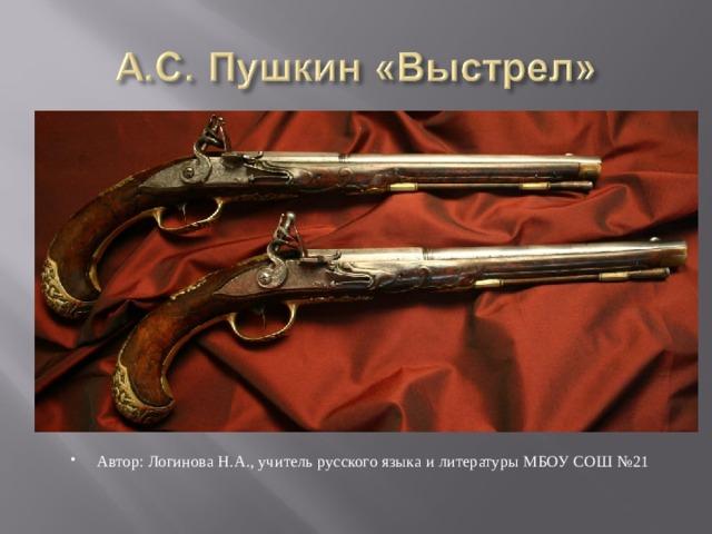 Автор: Логинова Н.А., учитель русского языка и литературы МБОУ СОШ №21