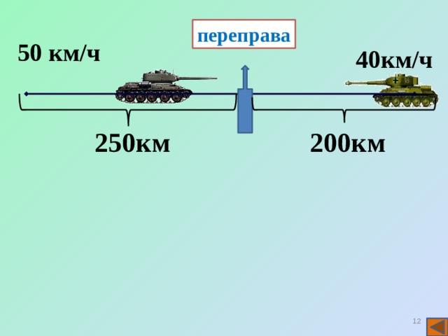 переправа 50 км/ч 40км/ч 250км 200км 11 11