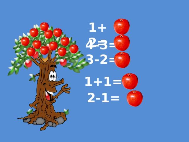 1+2= 3 4-3= 1 1 3-2= 2 1+1= 1 2-1=