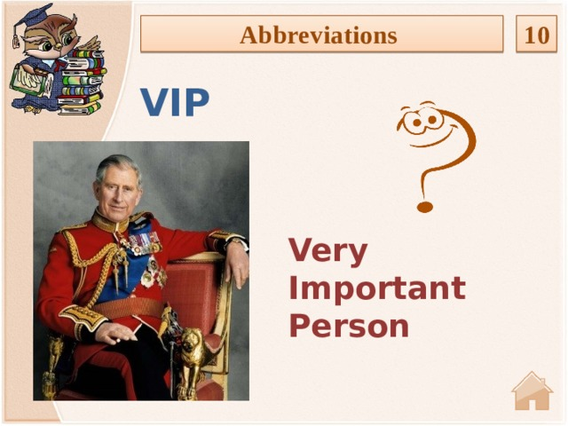 Abbreviations 10 VIP Very Important Person