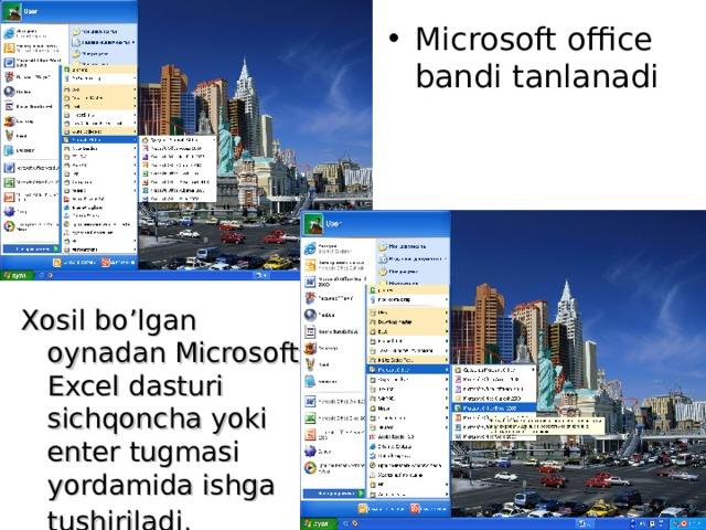 Microsoft office bandi tanlanadi
