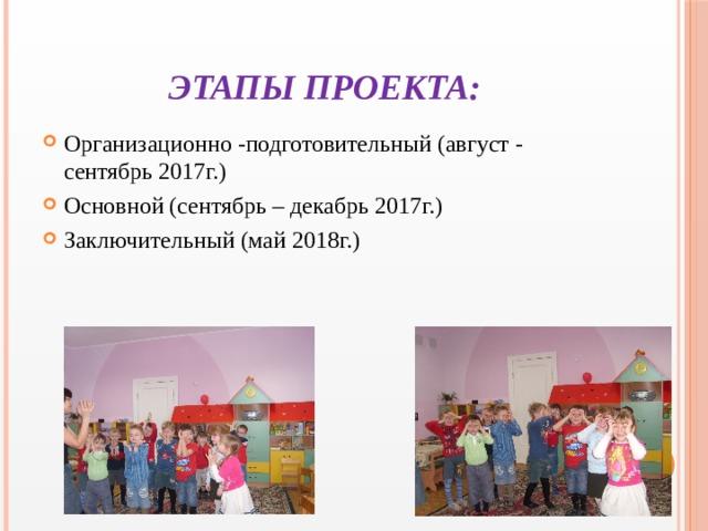 Этапы проекта: