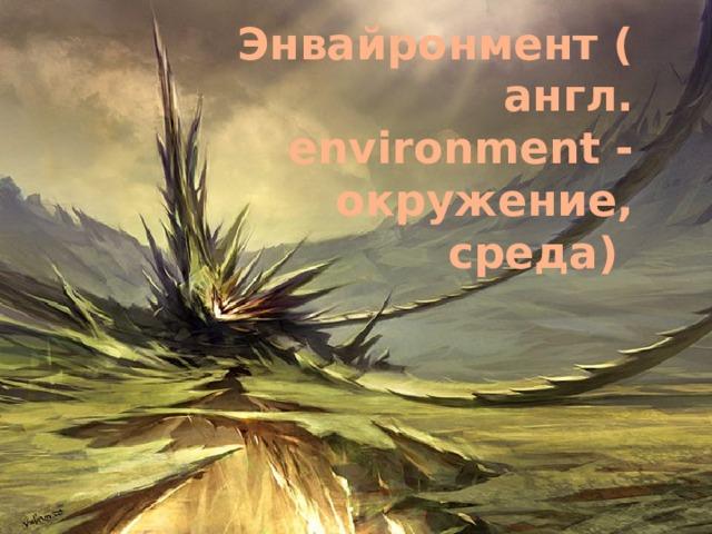 Энвайронмент(англ. environment - окружение, среда)