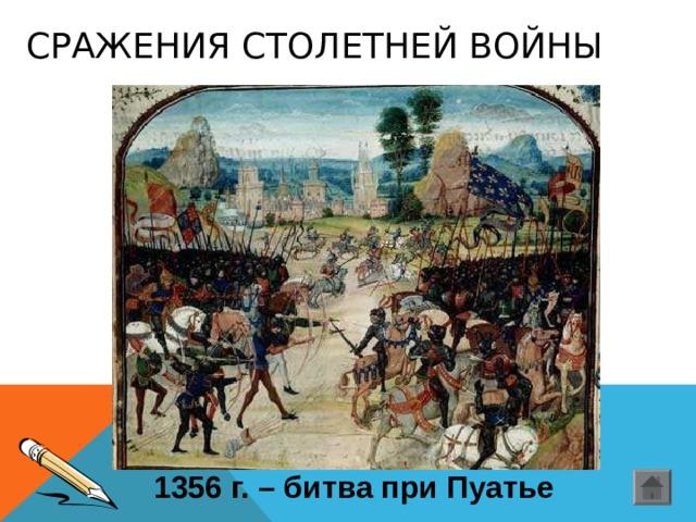СРАЖЕНИЯ СТОЛЕТНЕЙ ВОЙНЫ 1356 г. – битва при Пуатье