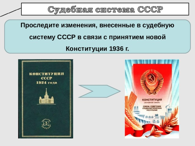 Проследите изменения, внесенные в судебную систему СССР в связи с принятием новой Конституции 1936 г.