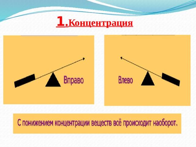 1 . Концентрация