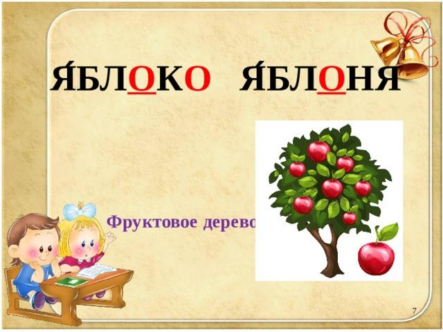 Я ́ БЛ О К О Я ́ БЛ О НЯ   Фруктовое дерево.