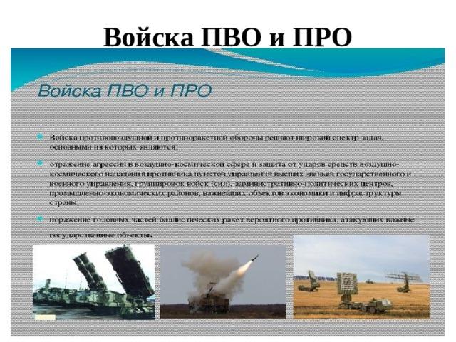 Войска ПВО и ПРО