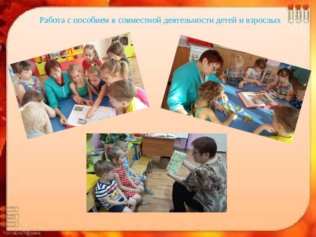 Работа с пособием в совместной деятельности детей и взрослых
