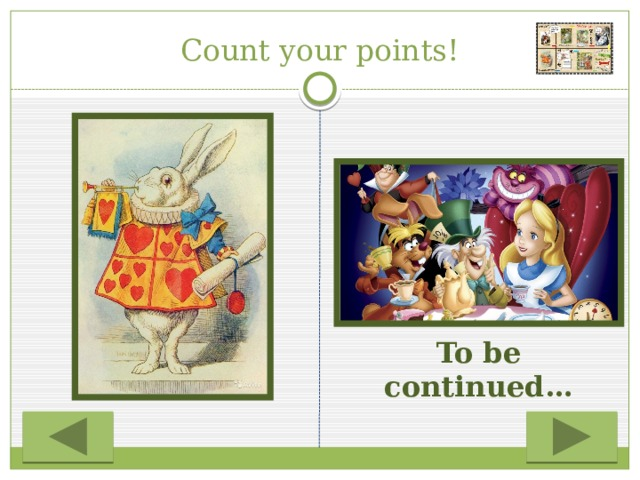 Count your points! To be continued…