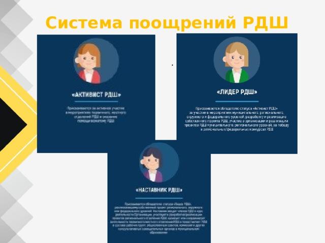 Система поощрений РДШ .