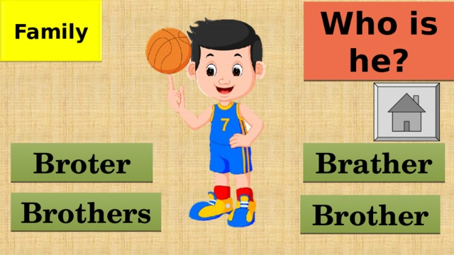 Family Who is he? Brather Broter Brothers Brother