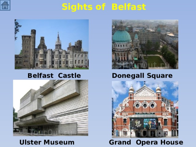 Sights of Belfast Belfast Castle Donegall Square Ulster Museum Grand Opera House