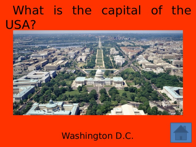 What is the capital of the USA? Washington D.C.