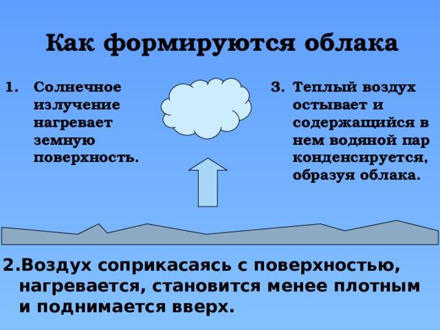 Как формируются облака