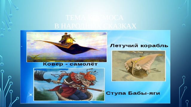 Тема космоса  в народных Сказках