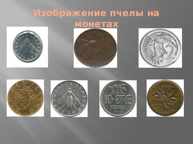 Изображение пчелы на монетах