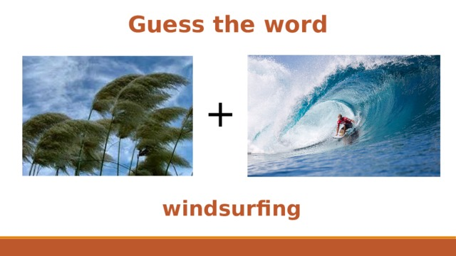 Guess the word + windsurfing