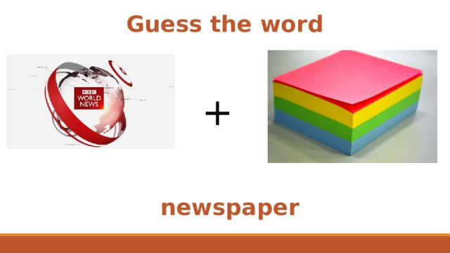Guess the word + newspaper