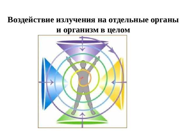 Воздействие излучения на отдельные органы и организм в целом