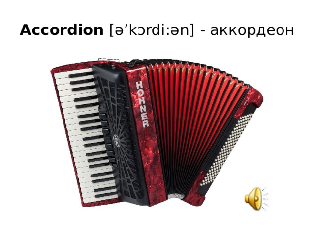 Accordion  [ə'kɔrdi:ən] - аккордеон