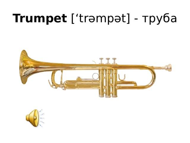 Trumpet ['trəmpət] - труба