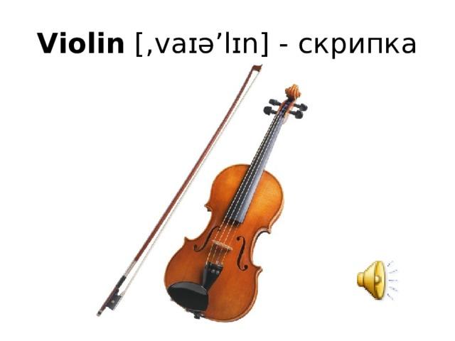 Violin [,vaɪə'lɪn] - скрипка