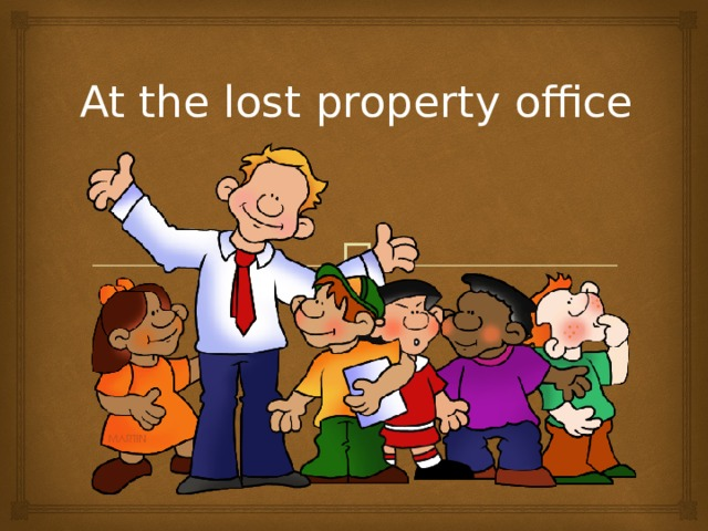At the lost property office