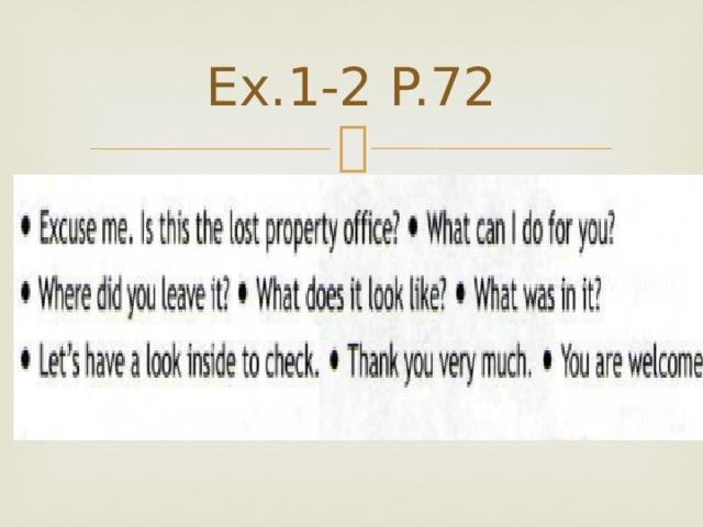 Ex.1-2 P.72