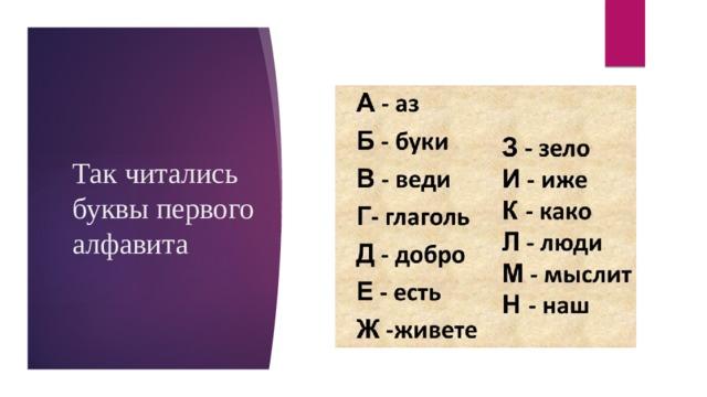 Так читались буквы первого алфавита