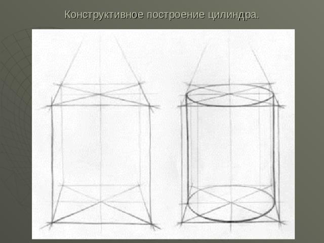 Конструктивное построение цилиндра.